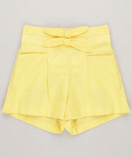 Short-Infantil-Lacos-e-Bolsos-Cintura-Alta-Amarelo-9115646-Amarelo_1