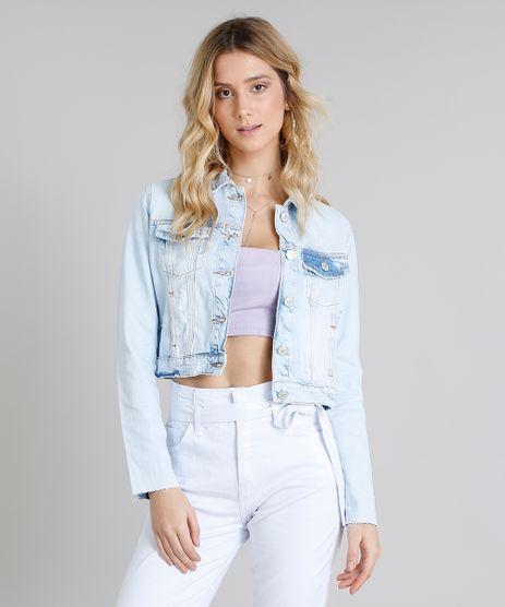 Jaqueta-Jeans-Feminina-Cropped-Destroyed-Manga-Longa-Azul-Claro-9217850-Azul_Claro_1