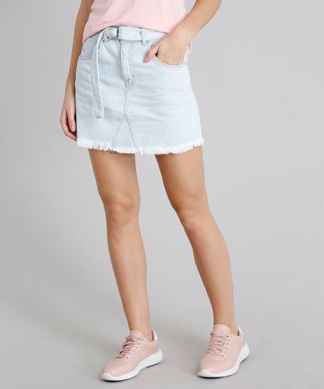 Saia-Jeans-Feminina-com-Bolsos-e-Cinto-Azul-Claro-9217862-Azul_Claro_1