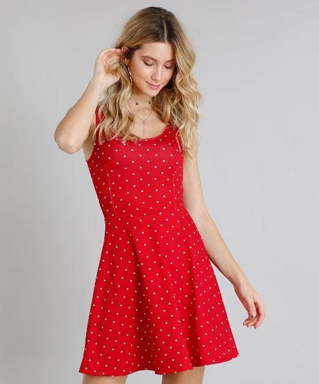 Vestido-Feminino-Evase-Curto-Estampado-de-Poa-Sem-Manga-Decote-Redondo-Vermelho-9248329-Vermelho_1