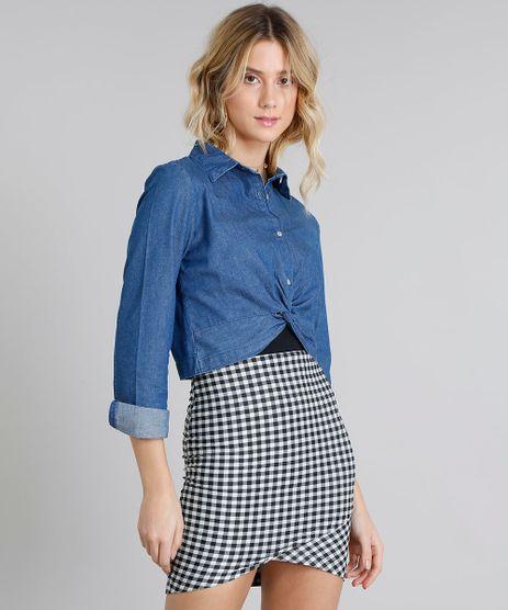 Camisa-Jeans-Feminina-Cropped-com-No-Manga-Longa-Azul-Medio-9217848-Azul_Medio_1