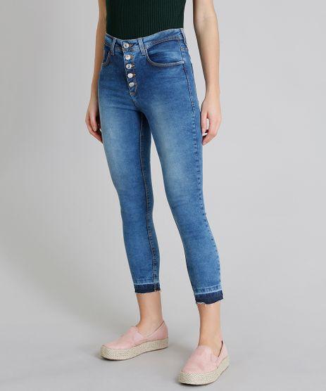 Calca-Jeans-Feminina-Cropped-com-Bolsos-Azul-Medio-9222214-Azul_Medio_1