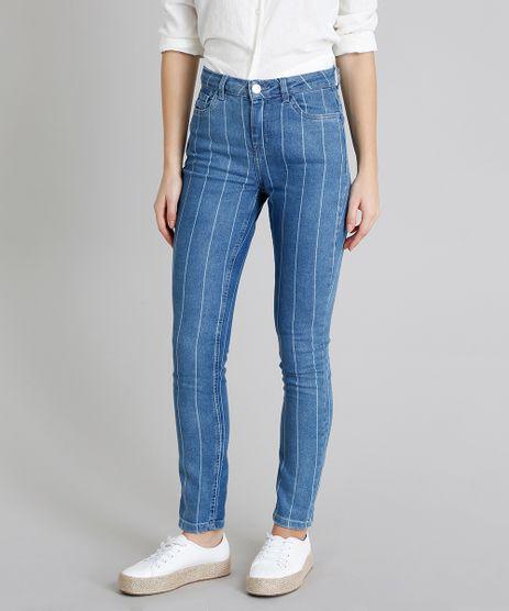 Calca-Jeans-Feminina-Skinny-Listrada-com-Bolsos-Azul-Medio-9219882-Azul_Medio_1