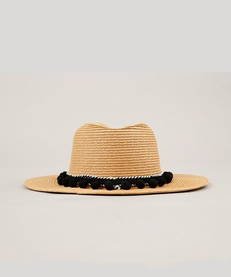 Chapeu-de-Praia-com-Pompom--Bege-9146371-Bege_1