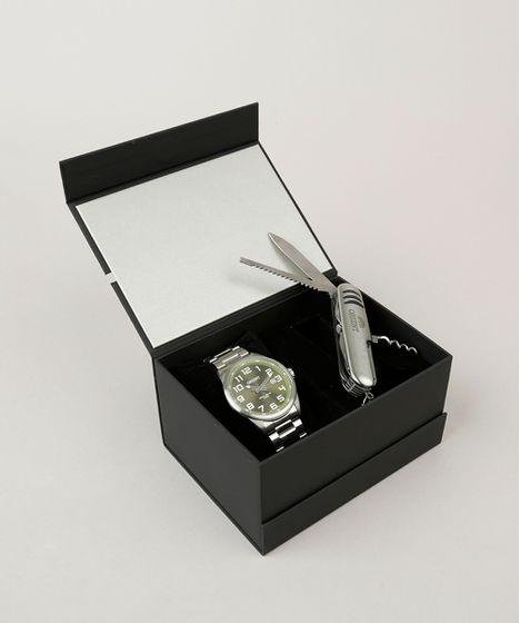 5971d0ecd Kit de Relógio Analógico Orient Masculino + Canivete - MBSS1271 ...