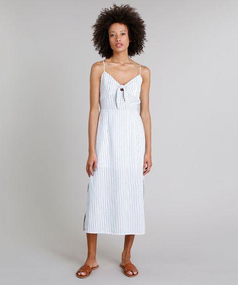 Vestido-Midi-Listrado-com-Laco-e-Fendas-Alcas-Finas-Decote-V-Off-White-9258508-Off_White_1