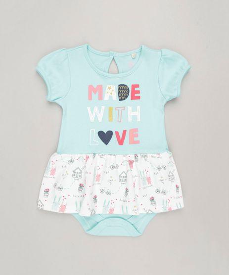 Body-Vestido-Infantil--Made-With-Love--Manga-Curta-Decote-Redondo-em-Algodao---Sustentavel-Verde-Claro-9117938-Verde_Claro_1
