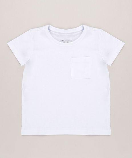 Camiseta-Infantil-com-Bolso-Manga-Curta-Gola-Careca-em-Algodao---Sustentavel-Branca-8574313-Branco_1