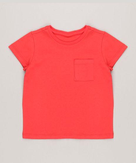 Camiseta-Infantil-com-Bolso-Manga-Curta-Gola-Careca-em-Algodao---Sustentavel-Vermelha-8574313-Vermelho_1