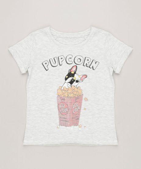 Blusa-Infantil--Pupcorn--com-Paetes-Manga-Curta-Decote-Redondo-Cinza-Mescla-Claro-9233130-Cinza_Mescla_Claro_1