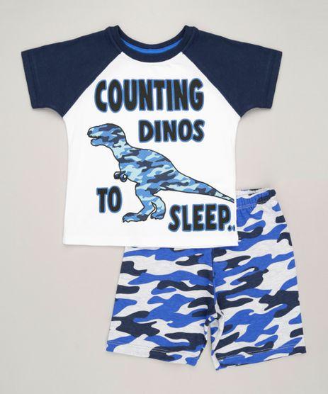 Pijama-Infantil-Dinossauro--Counting-Dinos-to-Sleep--Manga-Curta-Gola-Careca-em-Algodao---Sustentavel-Off-White-9224204-Off_White_1
