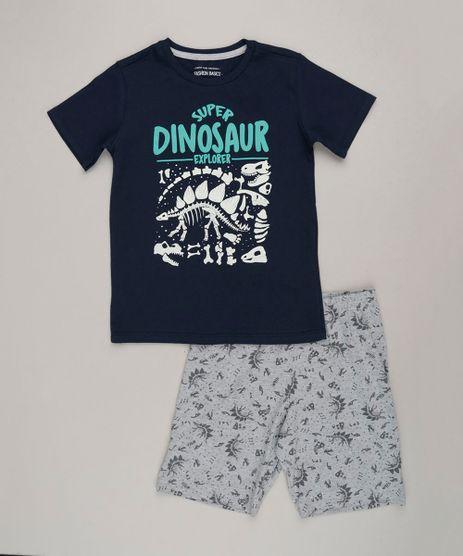 Pijama-Infantil-com-Estampa-de-Dinossauro-que-Brilha-no-Escuro-Manga-Curta-Gola-Careca-Azul-Marinho-9224201-Azul_Marinho_1