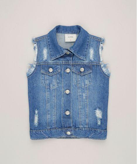 Colete-Jeans-Infantil-Destroyed--Azul-Medio-9246824-Azul Medio 1 ... 9f6f800a73b