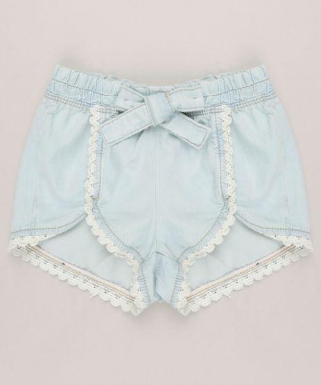 Short-Jeans-Infantil-com-Laco-e-Guipir-Azul-Claro-9232395-Azul_Claro_1