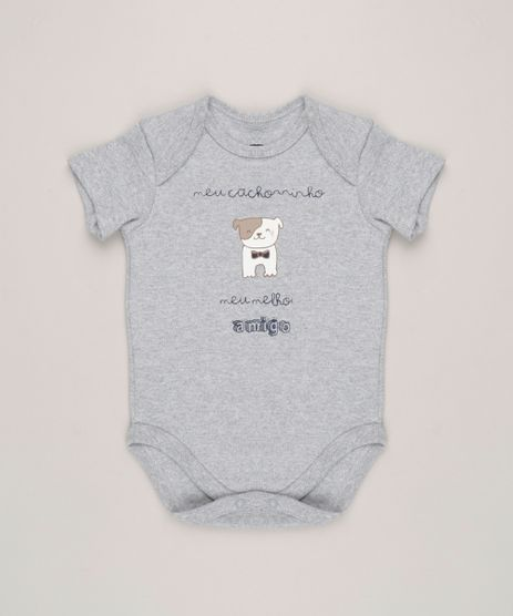 Body-Infantil--Meu-Cachorrinho-Meu-Melhor-Amigo--Manga-Curta-Gola-Careca-Cinza-Mescla-9229351-Cinza_Mescla_1
