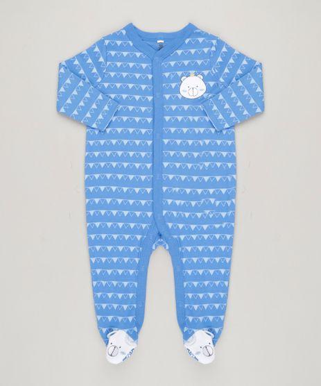 Macacao-Infantil-Ursinho-Estampado-Geometrico-Manga-Longa-em-Algodao---Sustentavel-Azul-9110026-Azul_1