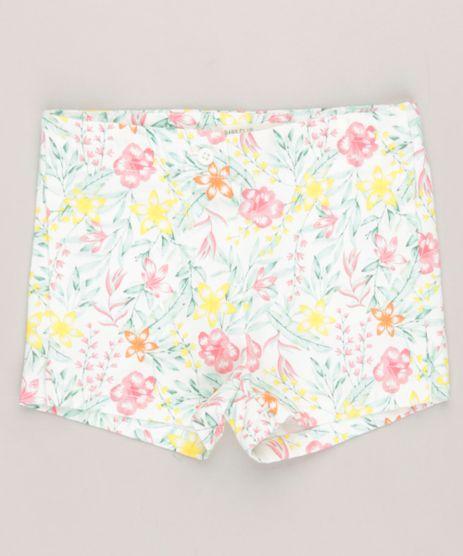 Short-Infantil-Estampado-Floral-em-Algodao---Sustentavel-Off-White-9158423-Off_White_1