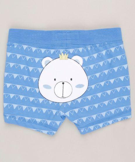 Bermuda-Infantil-Ursinho-Estampado-Geometrico-em-Algodao---Sustentavel-Azul-9110028-Azul_1