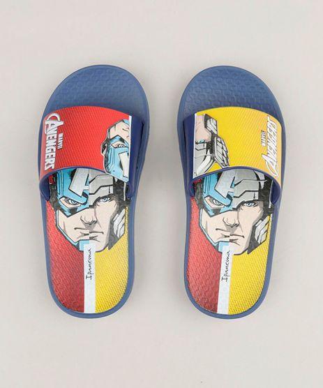 Chinelo-Slide-Infantil-Os-Vingadores-Capitao-America-e-Thor-Azul-Marinho-9267748-Azul_Marinho_1
