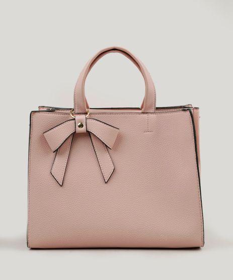 Bolsa-Feminina-Tote-com-Laco-e-Alca-Transversal-Removivel-Rose-9197796-Rose_1