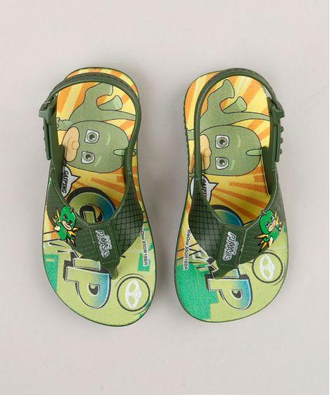 aa4c3de73b Chinelo Infantil PJ Masks Lagartixo Grendene Verde Militar - cea