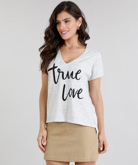 Blusa-Feminina--True-Love--com-Bordado-Manga-Curta-Decote-V-Cinza-Mescla-Claro-9267919-Cinza_Mescla_Claro_1