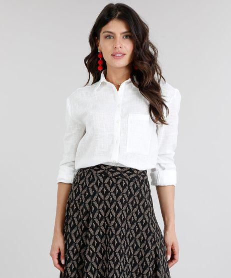 Camisa-Feminina-com-Bolso-Manga-Longa-Off-White-9185693-Off_White_1