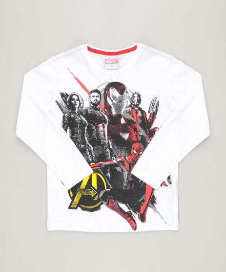 Camiseta-Infantil-Os-Vingadores-Guerra-Infinita-Manga-Longa-Gola-Careca-Off-White-9130303-Off_White_1