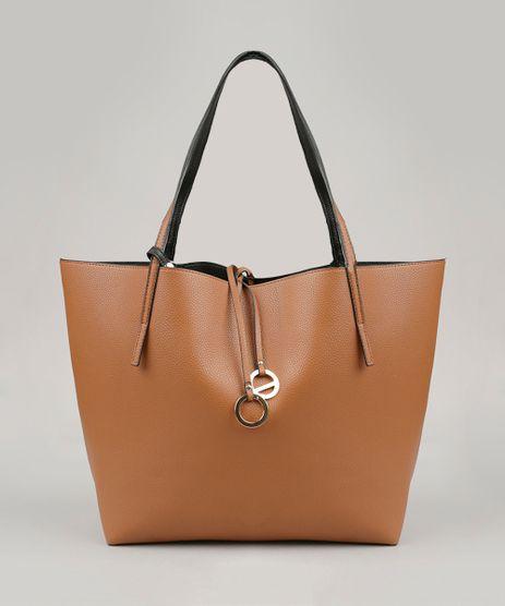 Bolsa-Feminina-Shopper-Dupla-Face-com-Necessaire-Caramelo-8506427-Caramelo_1
