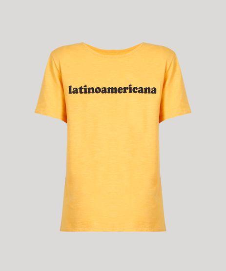 T-Shirt-Feminina-Manga-Curta-Oversized--Latinoamericana--Mostarda-9274486-Mostarda_2