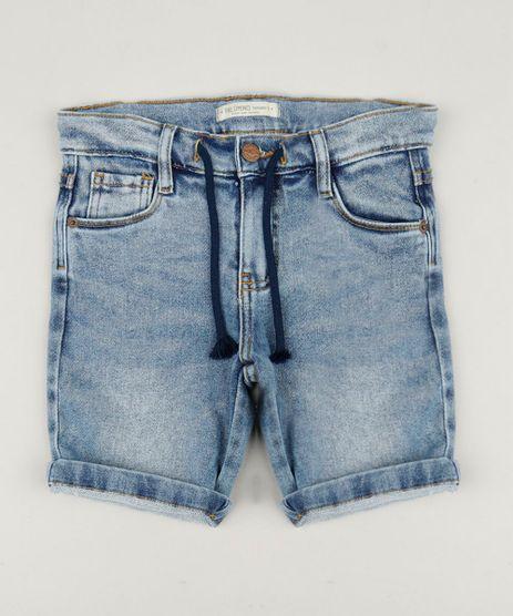 Bermuda-Jeans-Infantil-em-Moletom-Azul-Medio-9239138-Azul_Medio_1