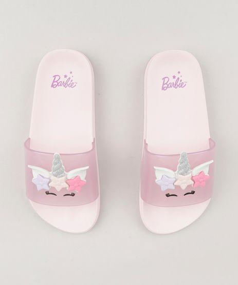 Chinelo-Infantil-Slide-Barbie-com-Unicornio-Rosa-Claro-9235306-Rosa_Claro_1
