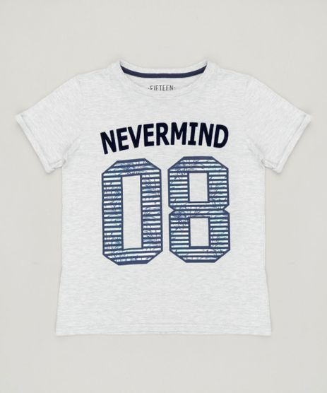 Camiseta-Infantil--Nevermind--Manga-Curta-Gola-Careca-Cinza-Mescla-Claro-9234094-Cinza_Mescla_Claro_1