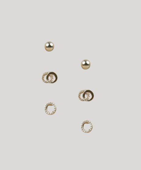 Kit-de-3-Brincos-Femininos-Dourado-9218892-Dourado_1