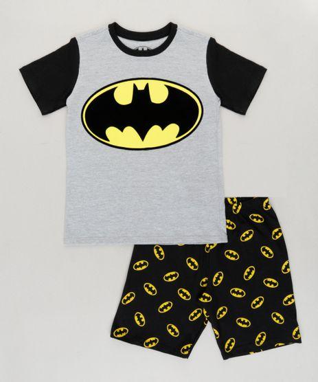 Pijama-Infantil-Batman-Manga-Curta-Cinza-Mescla-9224179-Cinza_Mescla_1
