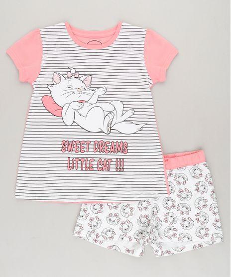 Pijama-Infantil-Marie-Manga-Curta-em-Algodao---Sustentavel-Rosa-9223606-Rosa_1