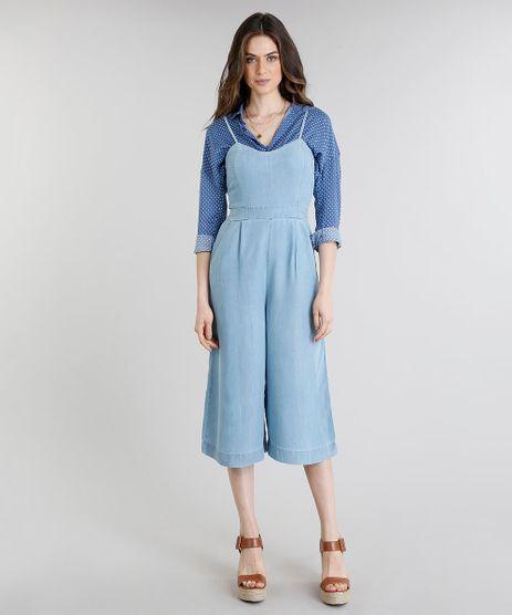 Macacao-Jeans-Feminino-Pantacourt-com-Bolsos-Azul-Claro-9244407-Azul_Claro_1