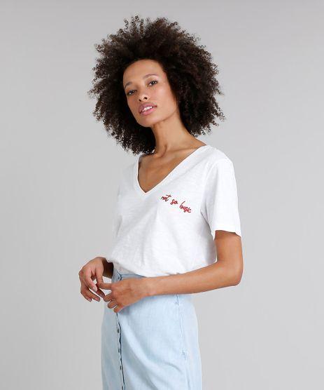 T-Shirt-Feminina--Not-So-Basic--Manga-Curta-Decote-V-Off-White-9302885-Off_White_1