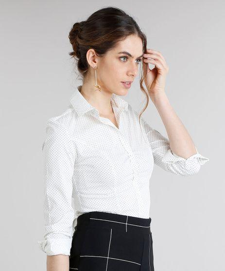 Camisa-Feminina-Basica-Estampada-de-Poas-Manga-Longa-Off-White-8515789-Off_White_1