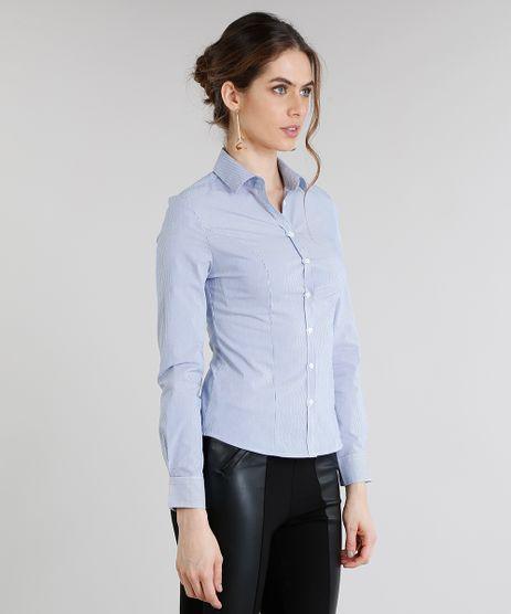 Camisa-Feminina-Basica-Listrada-Manga-Longa-Azul-8797414-Azul_1
