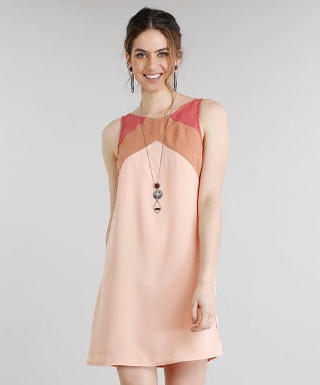 Vestido-Feminino-Curto-com-Recortes-Geometricos-Decote-Redondo-Rose-9199654-Rose_1