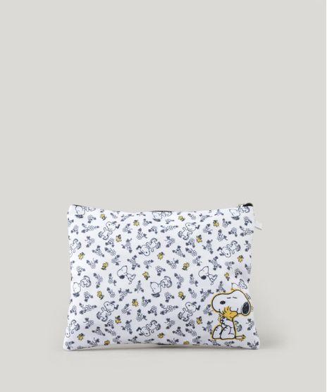 Necessaire-Feminina-Estampada-do-Snoopy-com-Divisoria-Branca-9265104-Branco_1