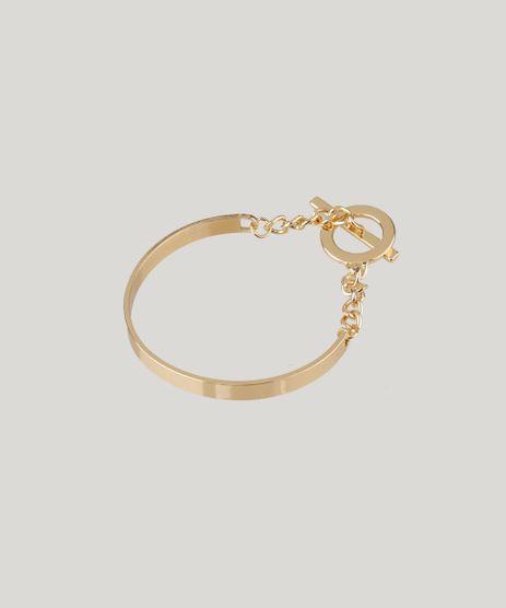 Pulseira-Feminina-com-Corrente-Dourada-9204898-Dourado_1