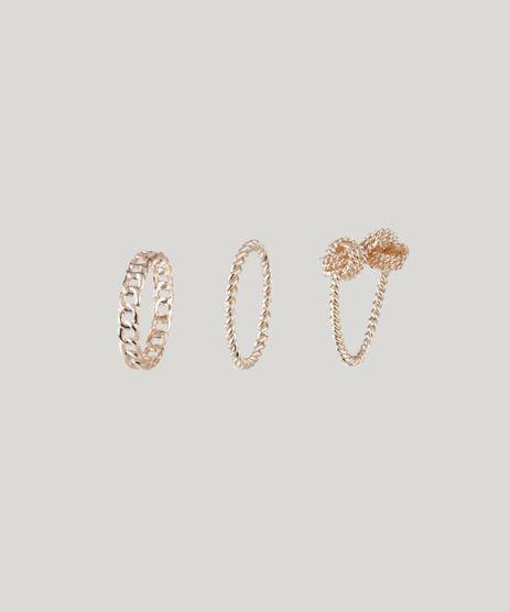 Kit-de-3-Aneis-Femininos-Texturizados-Rose-9205917-Rose_1