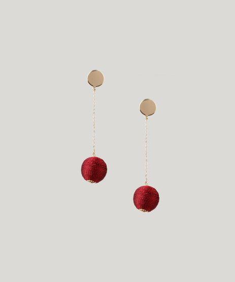 Brinco-Feminino-com-Corrente-e-Esfera-Dourado-8910689-Dourado_1
