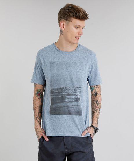 Camiseta-Masculina-com-Estampa-de-Paisagem-Manga-Curta-Gola-Careca-Azul-9228398-Azul_1
