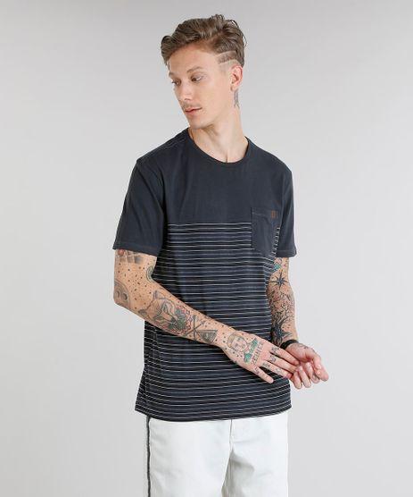 Camiseta-Masculina-com-Recorte-e-Bolso-Manga-Curta-Gola-Careca-Chumbo-9229797-Chumbo_1