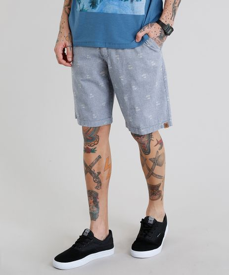Bermuda-Masculina-Estampada-de-Coqueiros-com-Bolsos-Azul-9215306-Azul_1