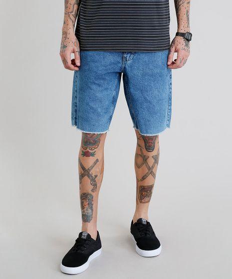 Bermuda-Jeans-Masculina-com-Bolsos-Barra-Desfiada-Azul-Medio-9225600-Azul_Medio_1
