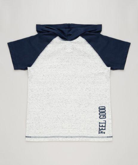 Camiseta-Infantil-Raglan-com-Capuz-Manga-Curta-Gola-Careca-Cinza-Mescla-Claro-9234100-Cinza_Mescla_Claro_1